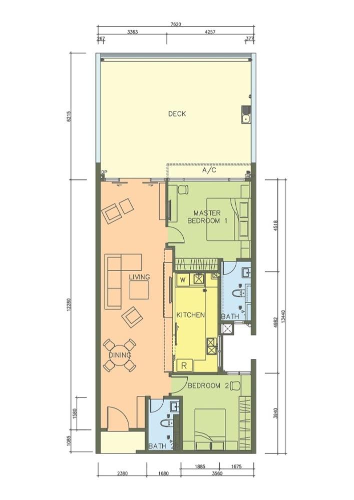 PacifiCity Type 1D Floor Plan