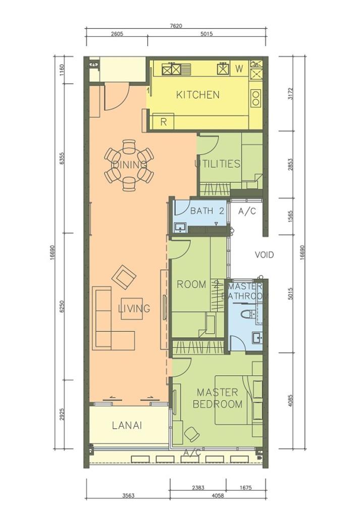 PacifiCity Type 2 Floor Plan