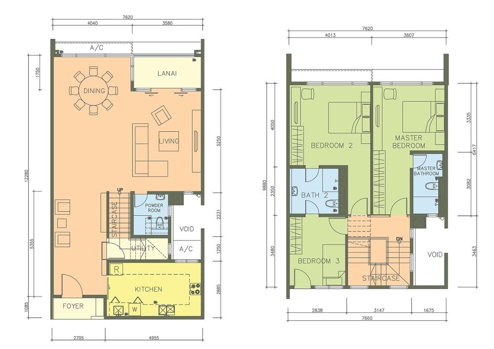 PacifiCity Type 3P Floor Plan