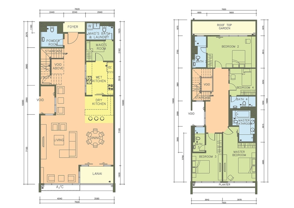 PacifiCity Type 4P Floor Plan