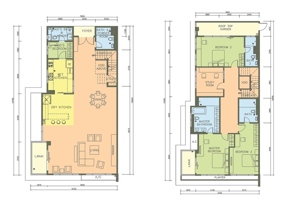 PacifiCity Type 4PC Floor Plan