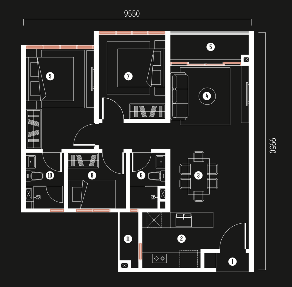 Millerz Square Tower A&B Type A3 Floor Plan