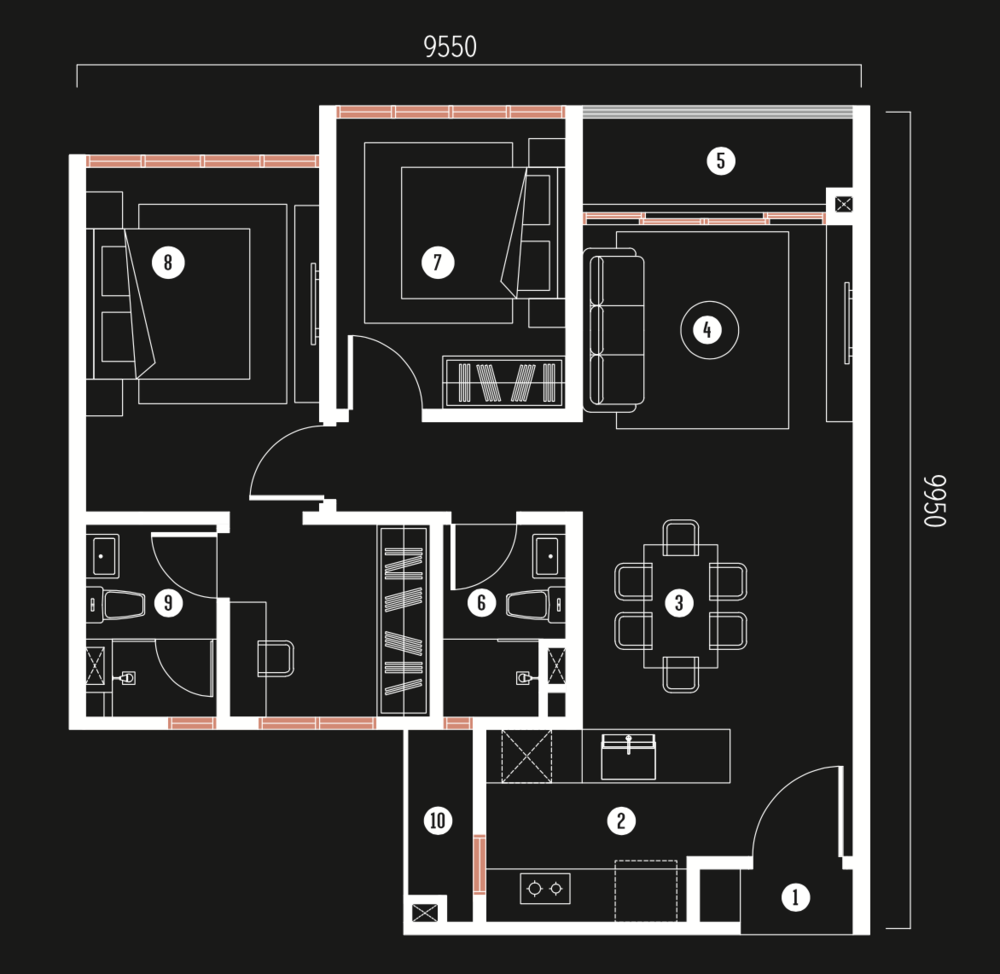 Millerz Square Tower A&B Type A4 Floor Plan