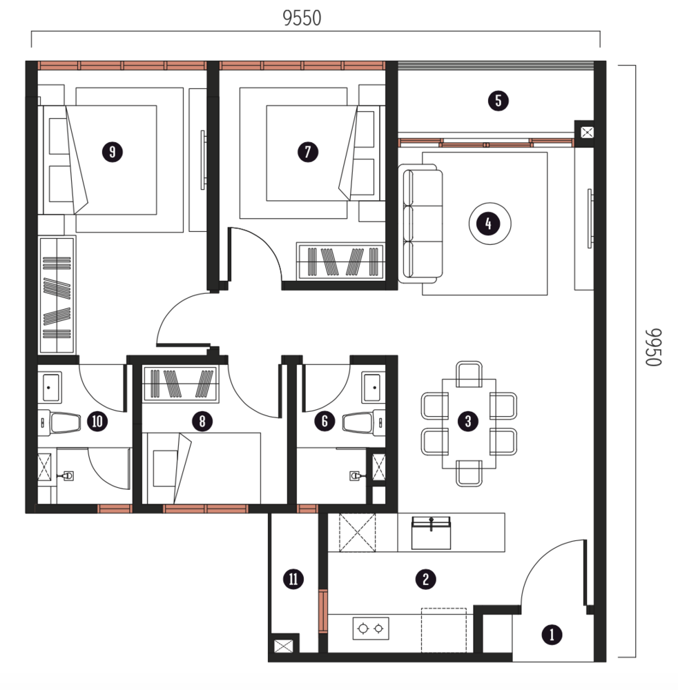 Millerz Square Tower A&B Type A7 Floor Plan