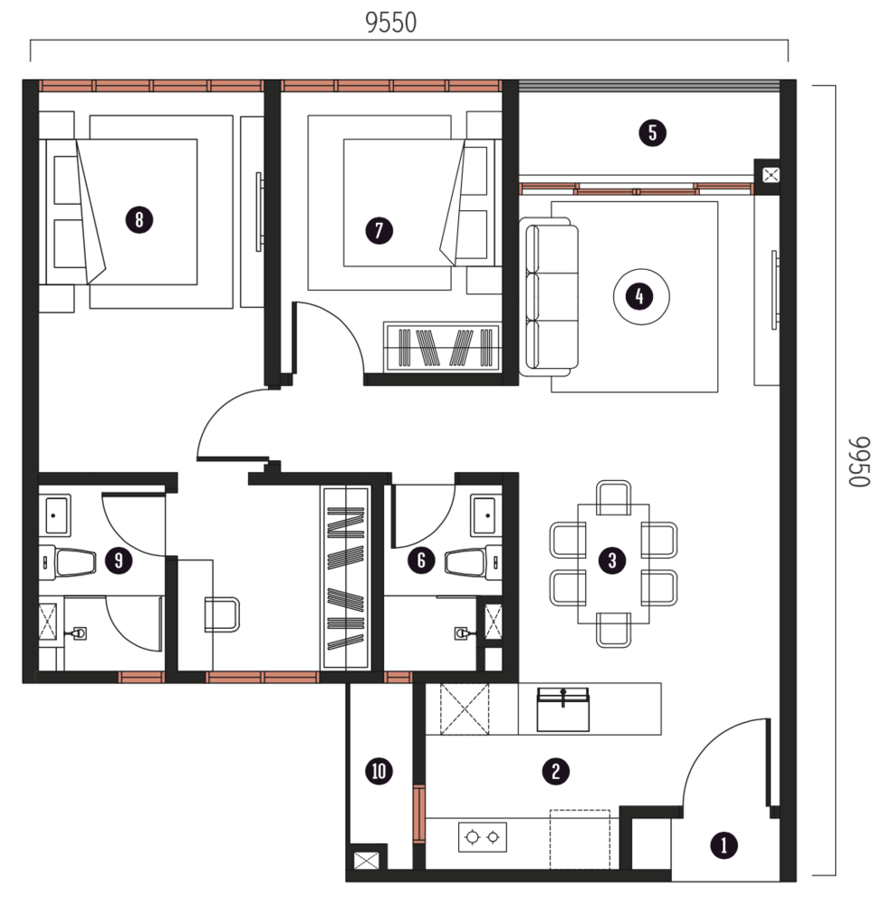 Millerz Square Tower A&B Type A8 Floor Plan