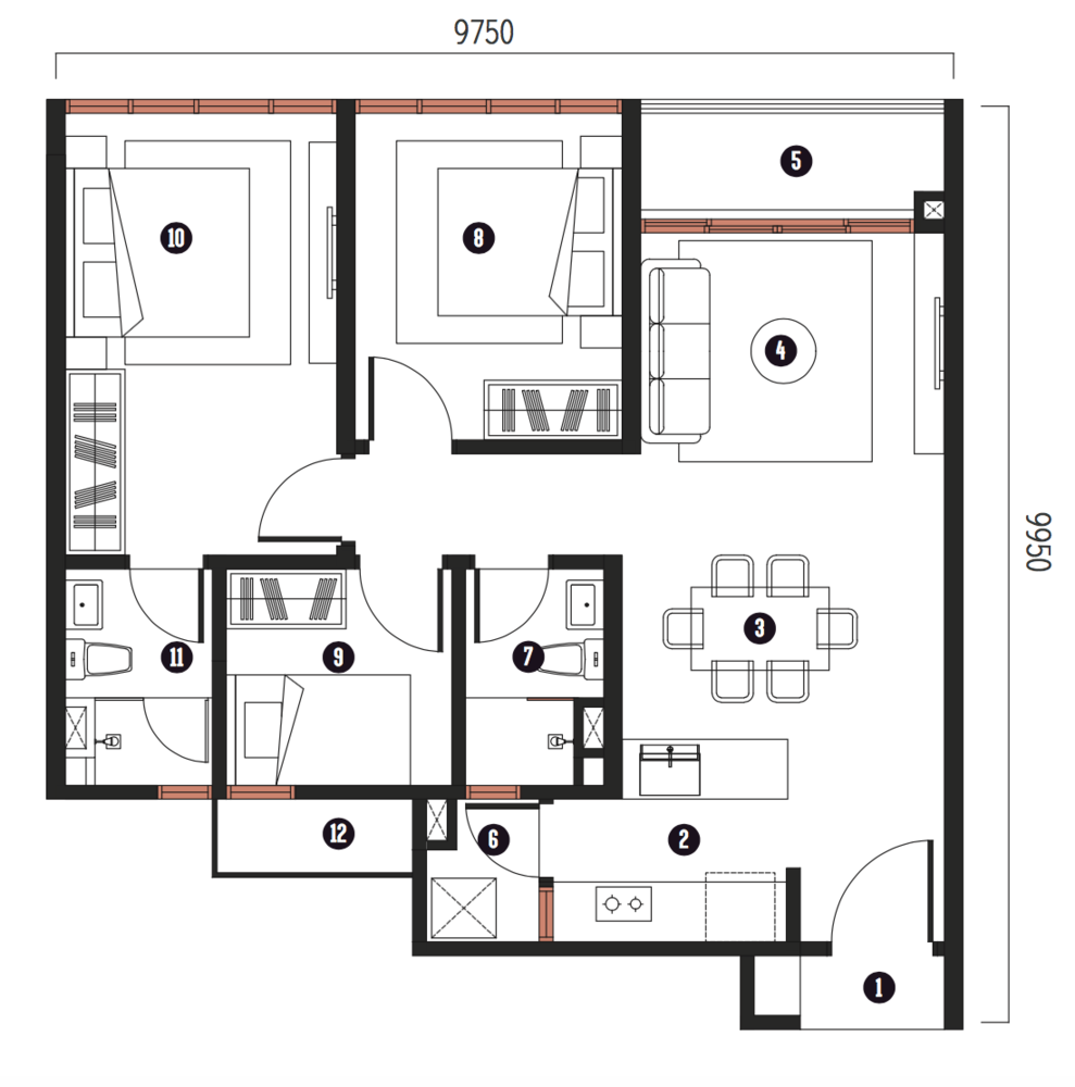 Millerz Square Tower A&B Type A9 Floor Plan