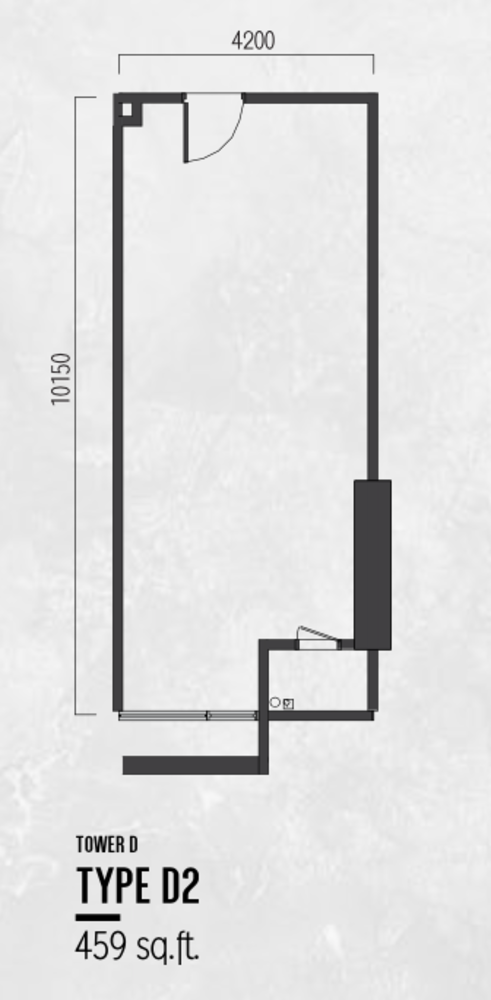 Millerz Square Tower D Type D2 Floor Plan