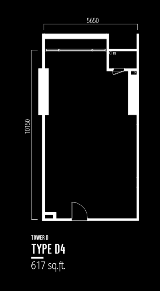 Millerz Square Tower D Type D4 Floor Plan