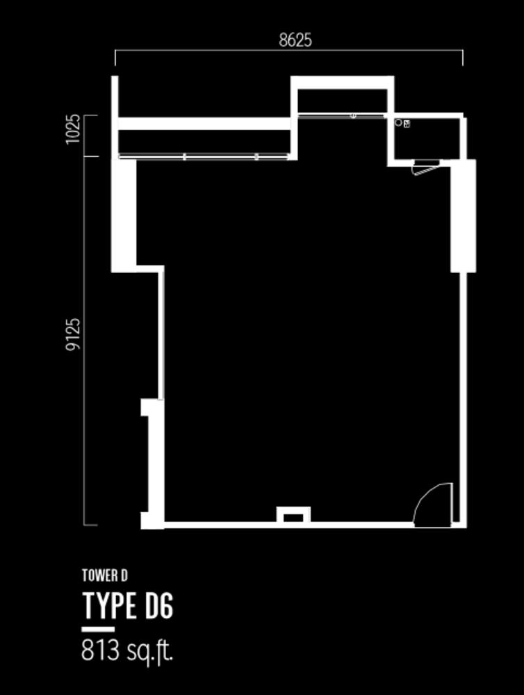 Millerz Square Tower D Type D6 Floor Plan