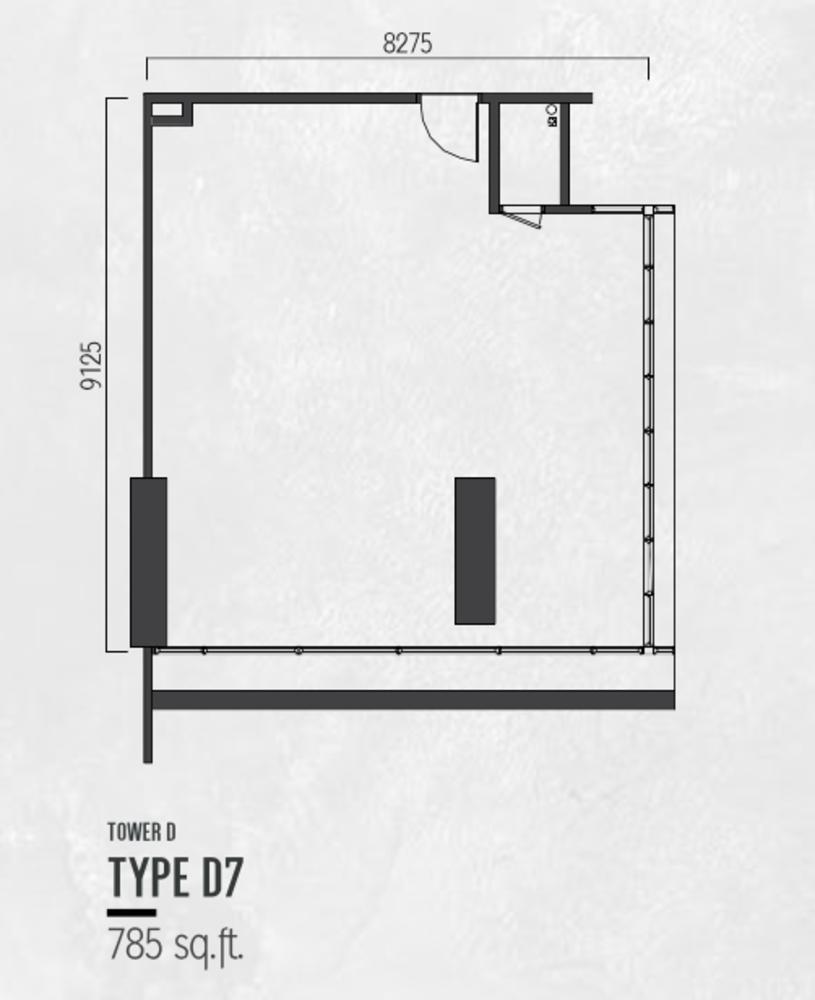 Millerz Square Tower D Type D7 Floor Plan