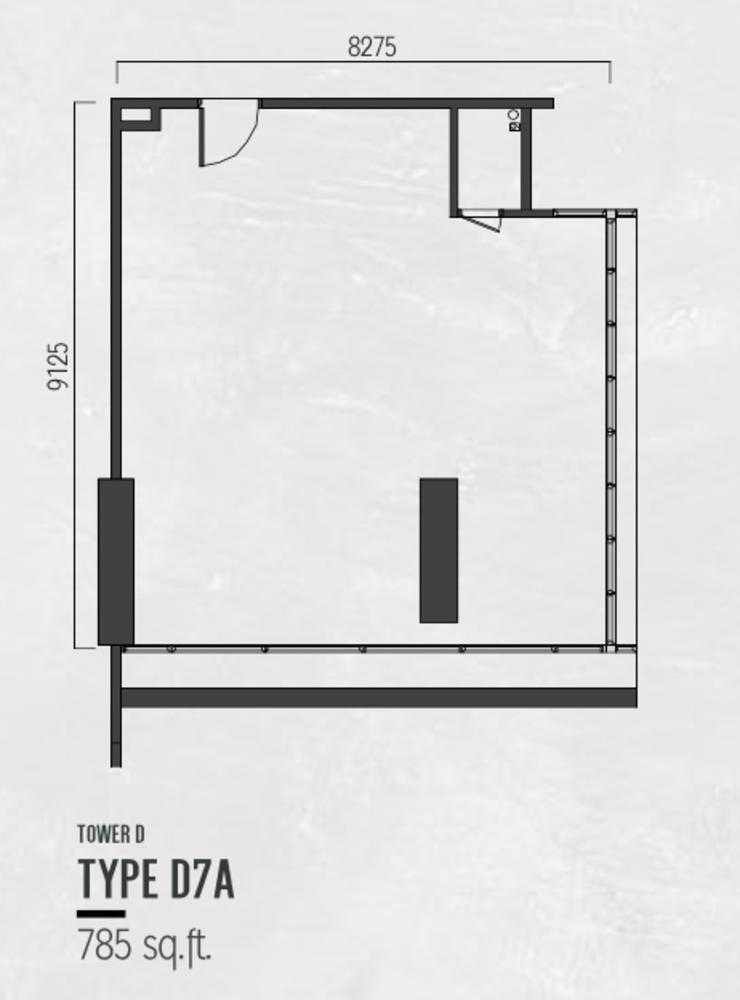 Millerz Square Tower D Type D7A Floor Plan