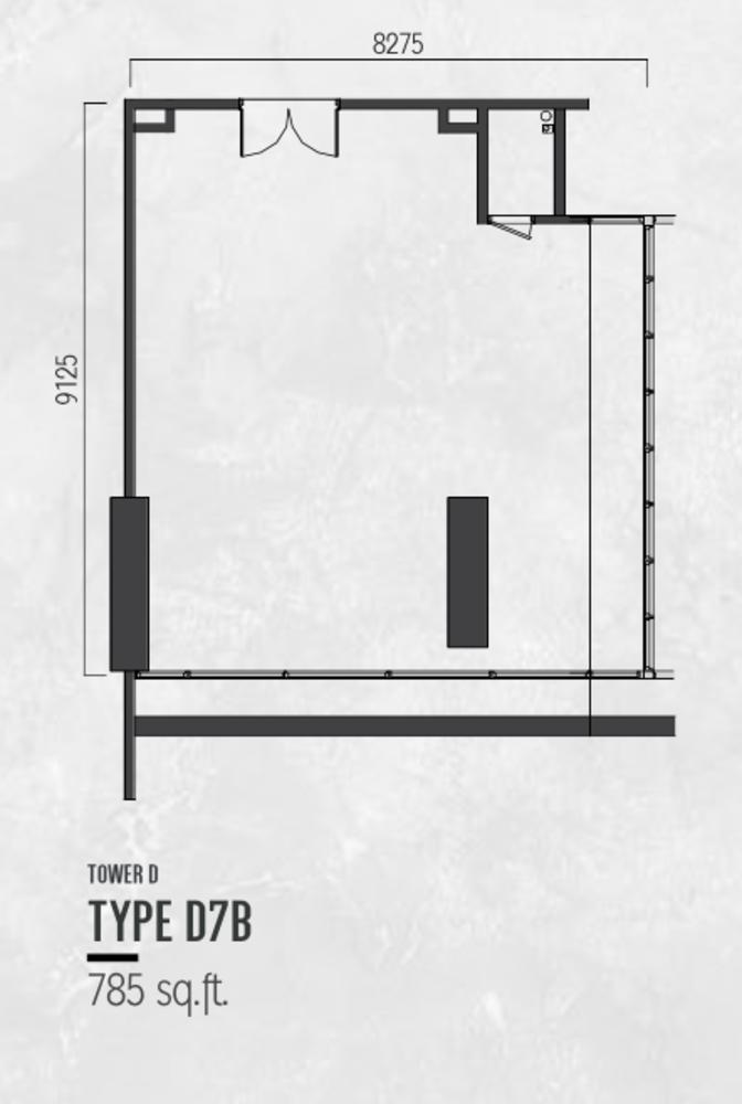 Millerz Square Tower D Type D7B Floor Plan
