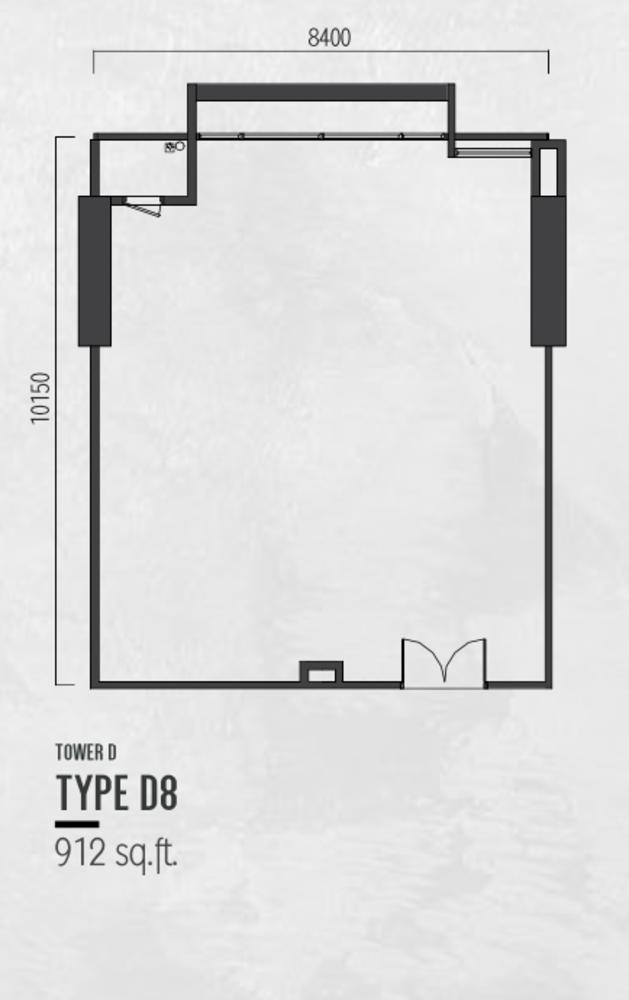 Millerz Square Tower D Type D8 Floor Plan