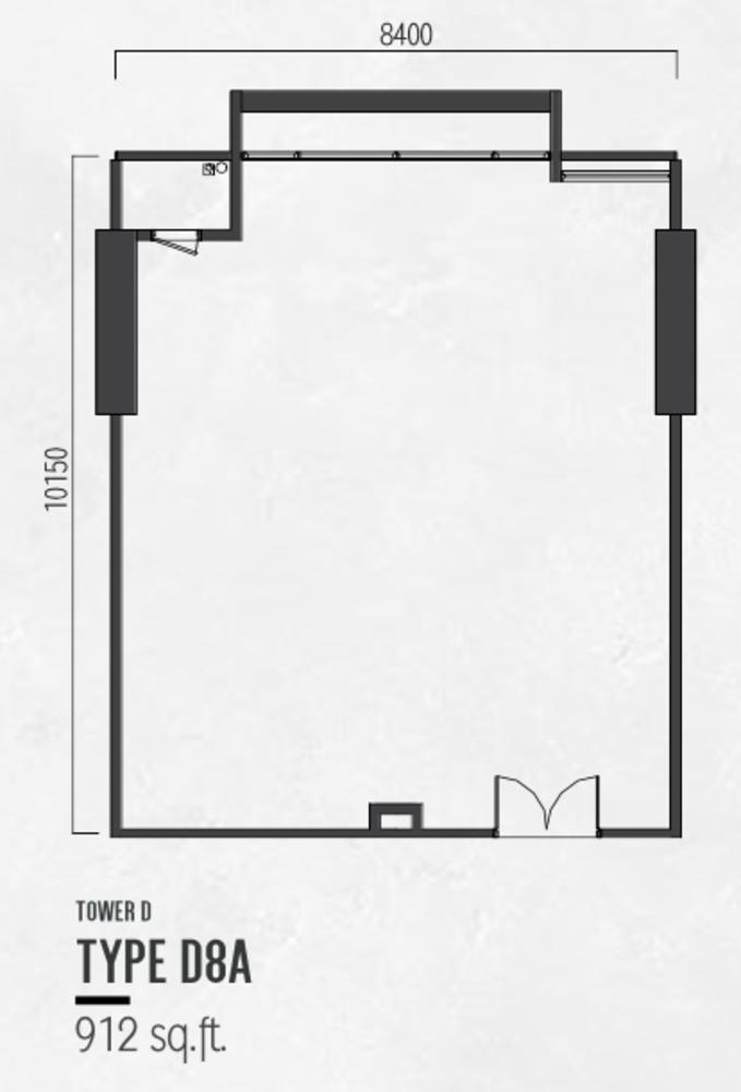 Millerz Square Tower D Type D8A Floor Plan