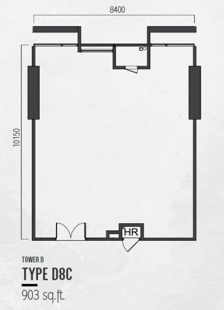 Millerz Square Tower D Type D8C Floor Plan