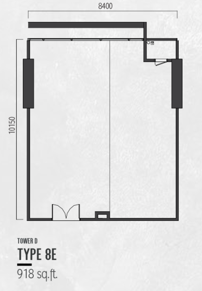 Millerz Square Tower D Type 8E Floor Plan