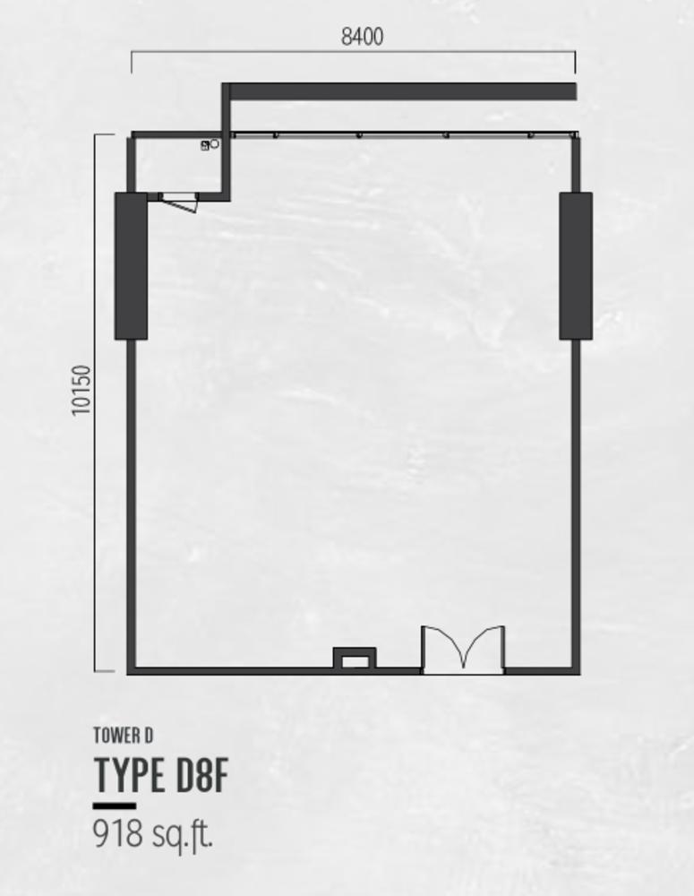 Millerz Square Tower D Type D8F Floor Plan