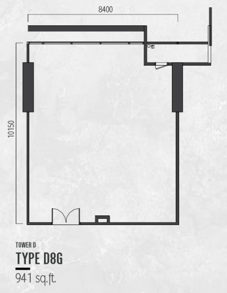 Millerz Square Tower D Type D8G Floor Plan