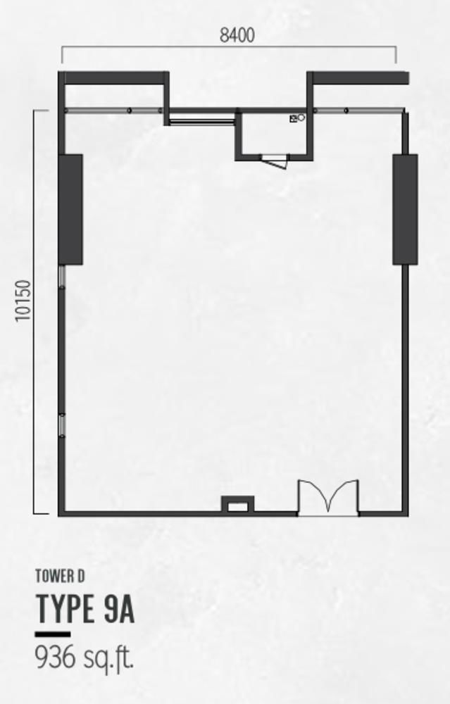 Millerz Square Tower D Type 9A Floor Plan