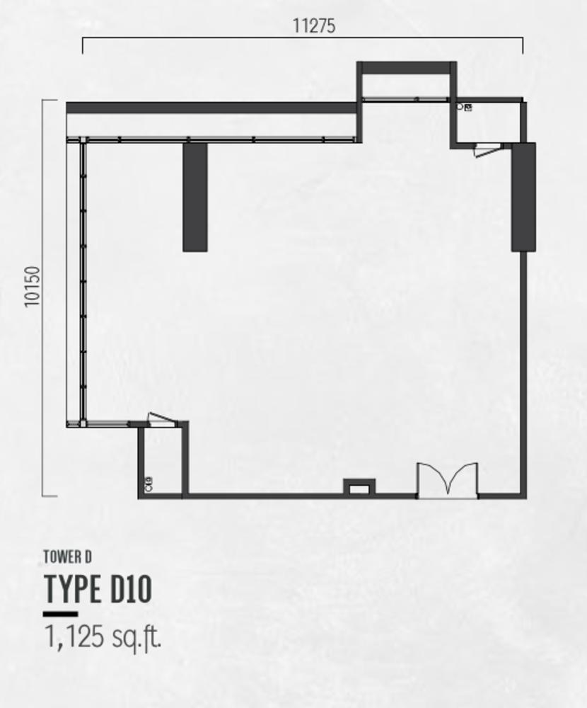 Millerz Square Tower D Type D10 Floor Plan