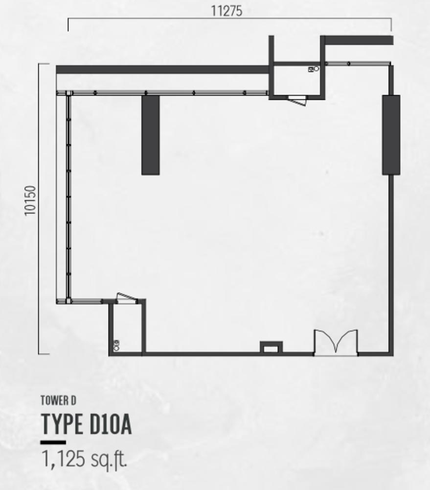 Millerz Square Tower D Type D10A Floor Plan