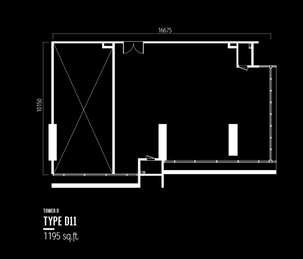 Millerz Square Tower D Type D11 Floor Plan