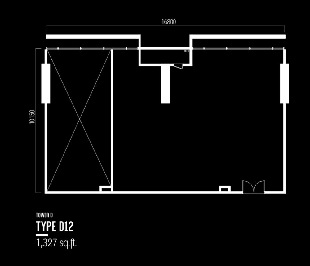 Millerz Square Tower D Type D12 Floor Plan