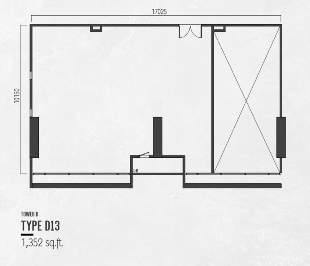 Millerz Square Tower D Type D13 Floor Plan