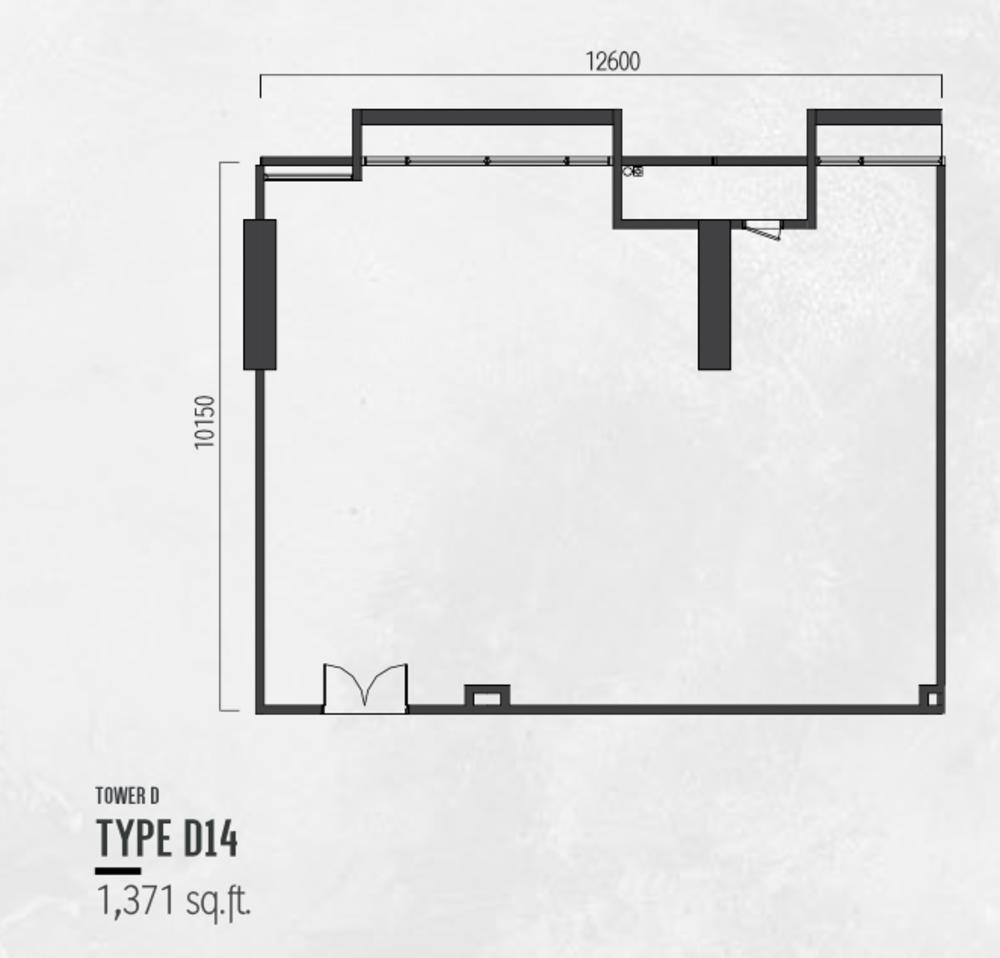 Millerz Square Tower D Type D14 Floor Plan