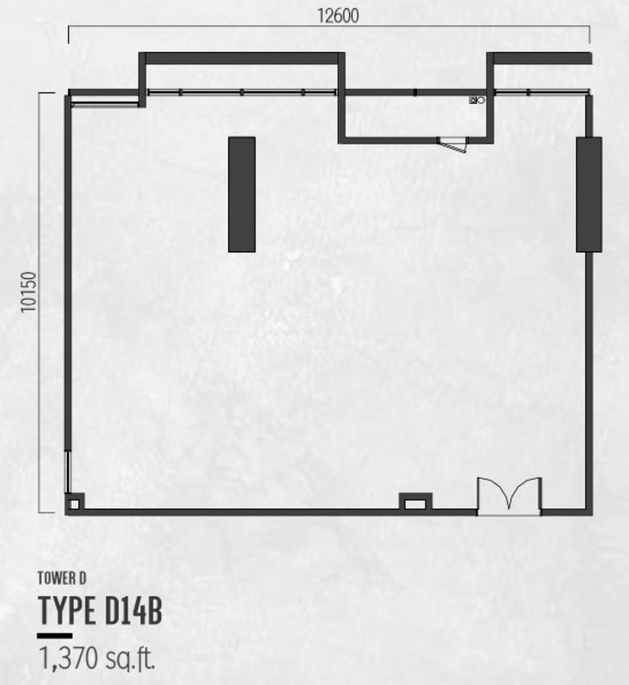 Millerz Square Tower D Type D14b Floor Plan