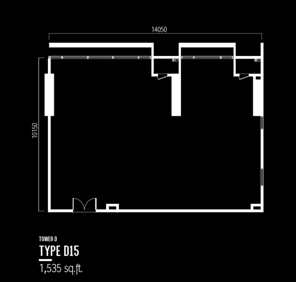 Millerz Square Tower D Type D15 Floor Plan