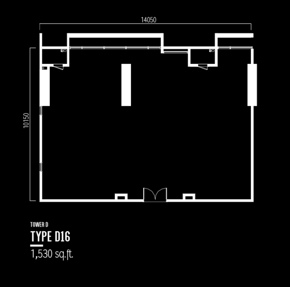 Millerz Square Tower D Type D16 Floor Plan