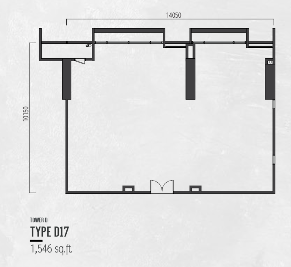 Millerz Square Tower D Type D17 Floor Plan