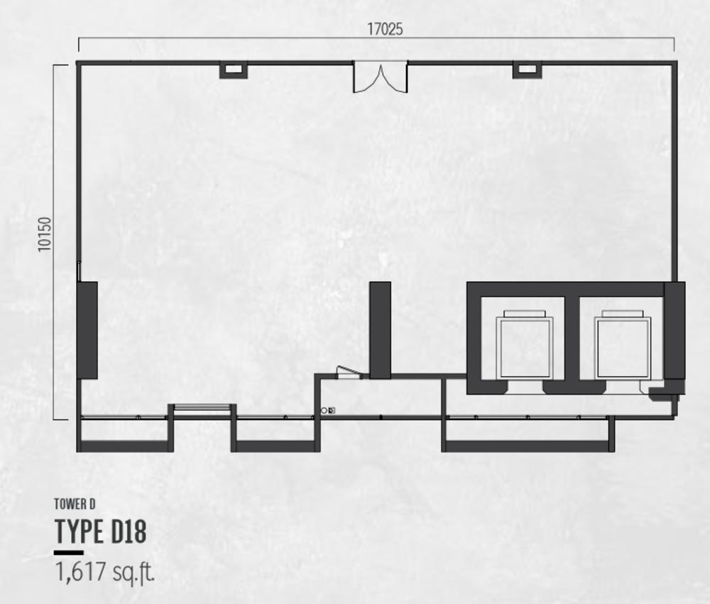 Millerz Square Tower D Type D18 Floor Plan