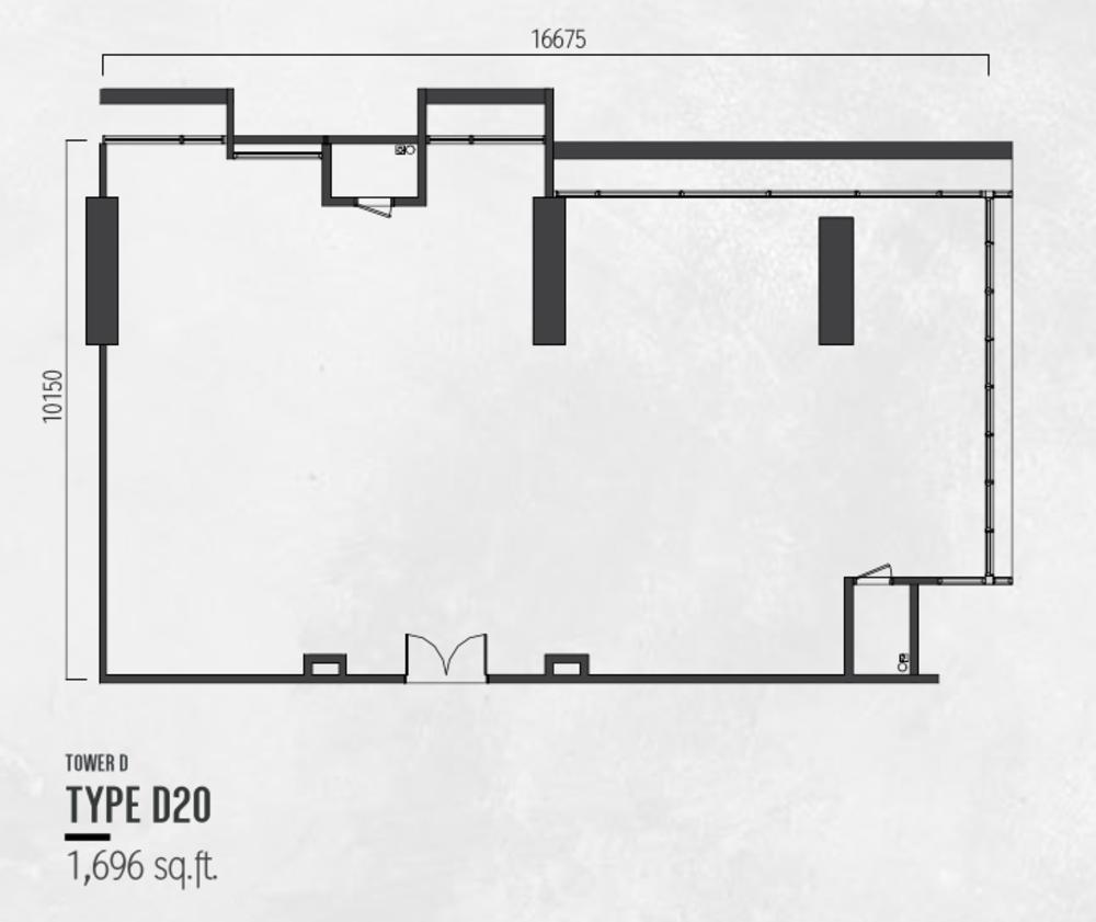 Millerz Square Tower D Type D20 Floor Plan