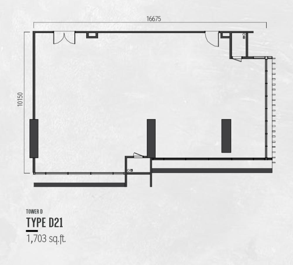 Millerz Square Tower D Type D21 Floor Plan