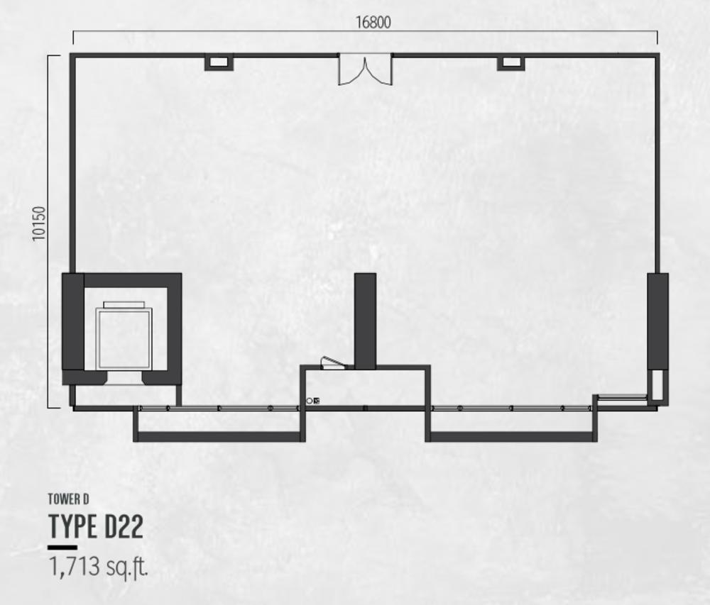 Millerz Square Tower D Type D22 Floor Plan