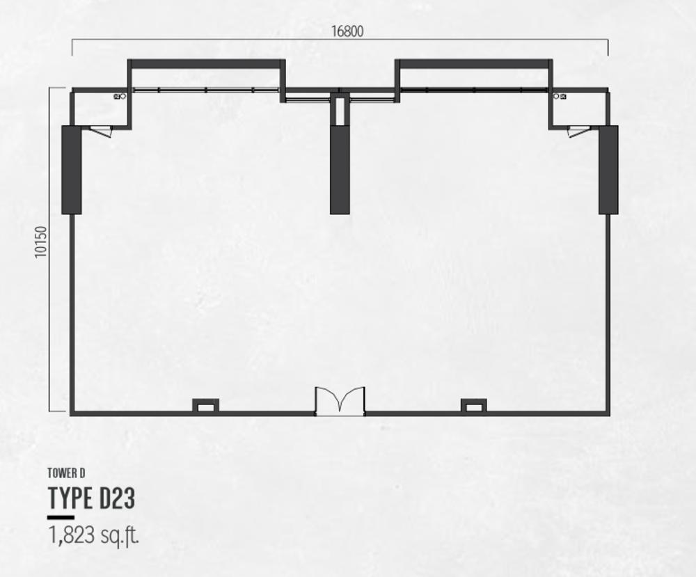 Millerz Square Tower D Type D23 Floor Plan