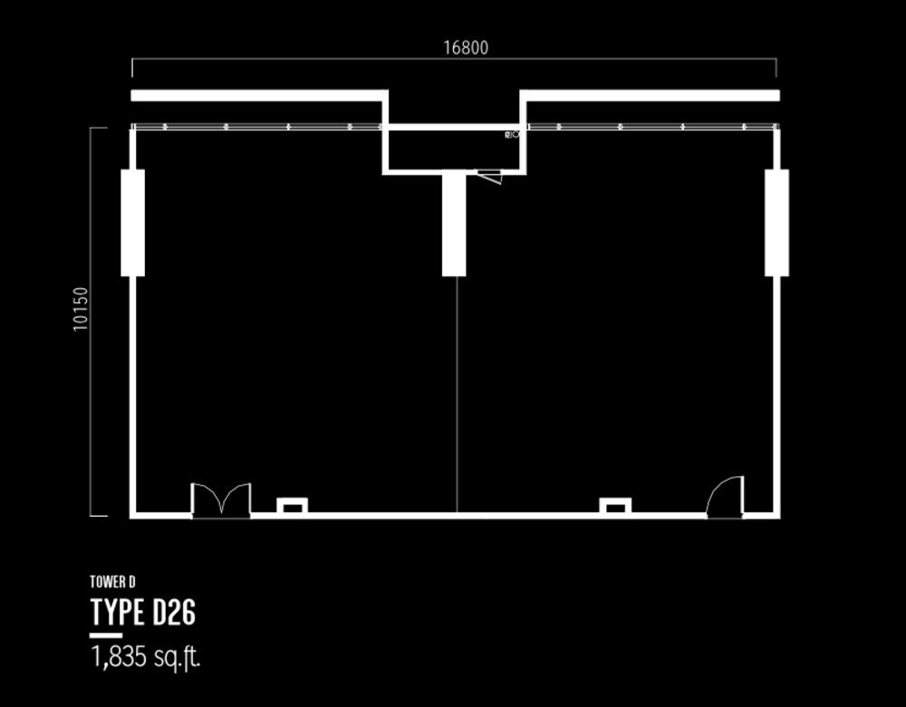 Millerz Square Tower D Type D26 Floor Plan