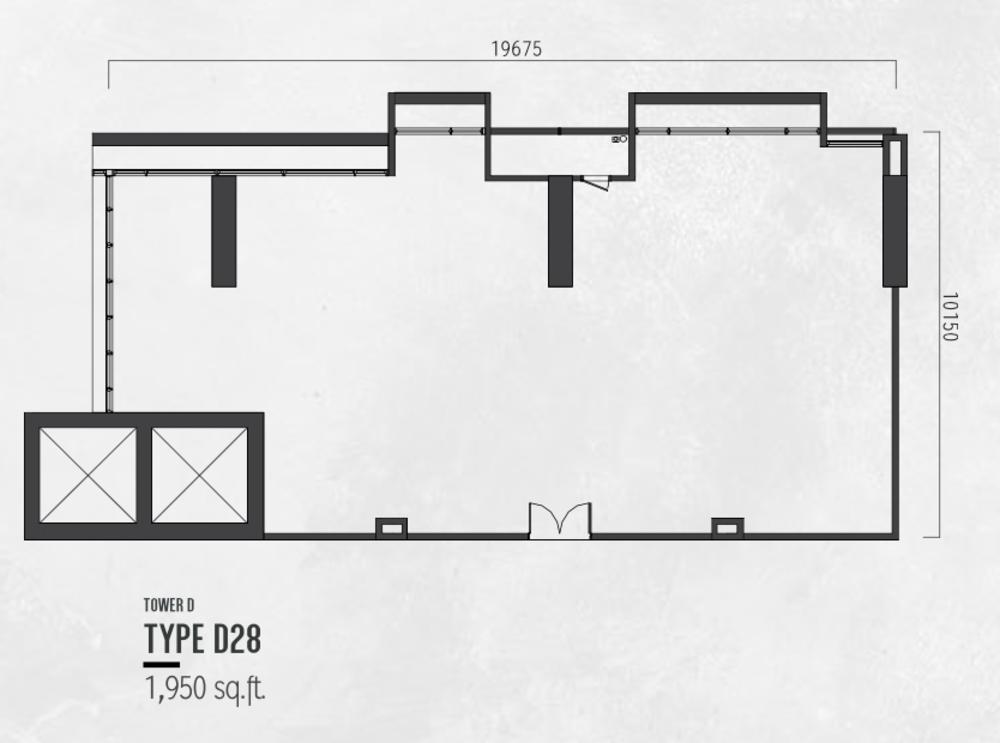 Millerz Square Tower D Type D28 Floor Plan
