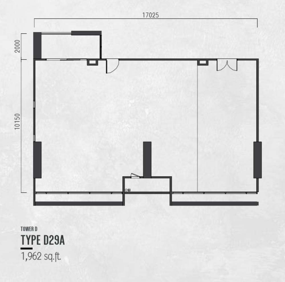 Millerz Square Tower D Type D29A Floor Plan