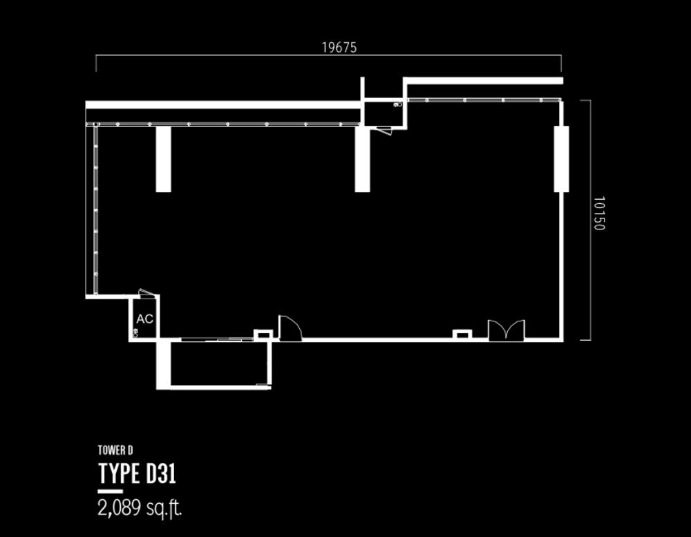 Millerz Square Tower D Type D31 Floor Plan