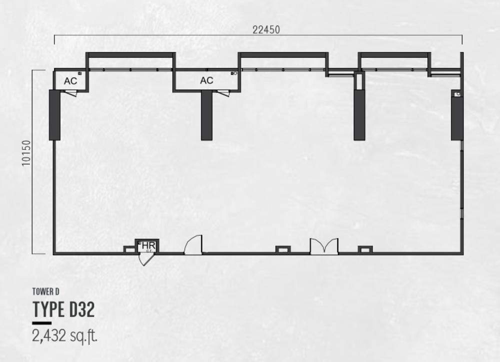 Millerz Square Tower D Type D32 Floor Plan