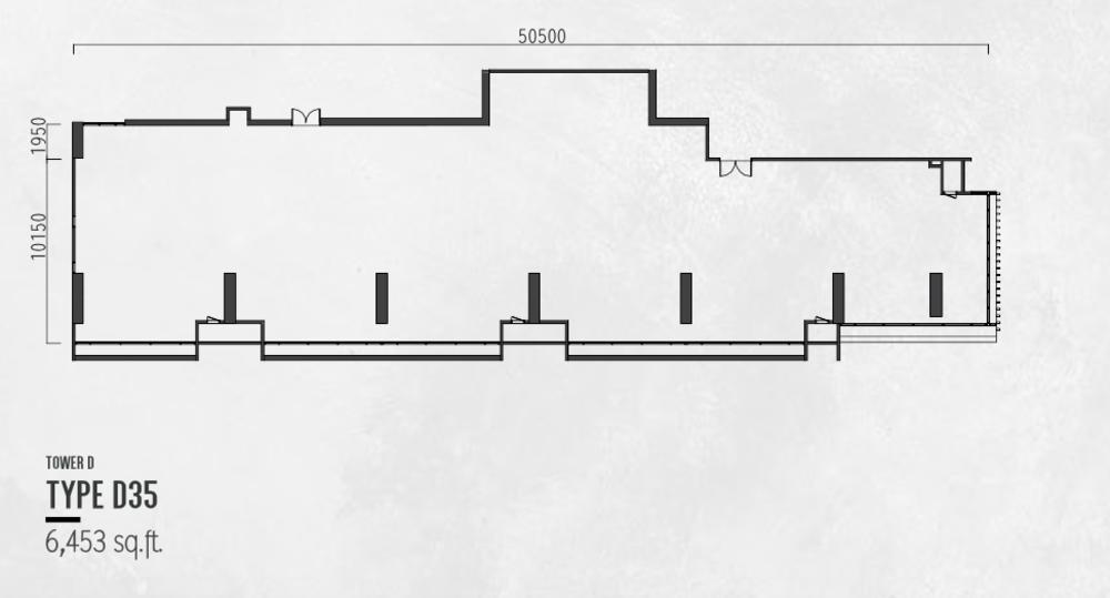 Millerz Square Tower D Type D35 Floor Plan