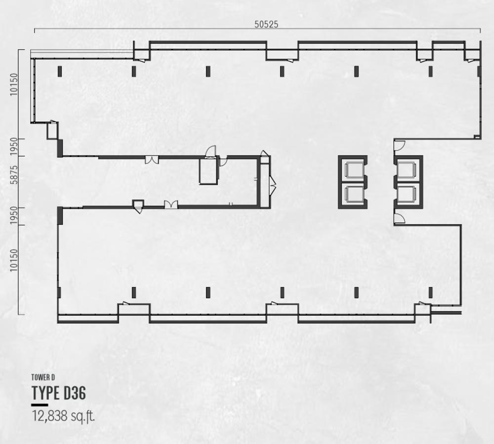 Millerz Square Tower D Type D36 Floor Plan