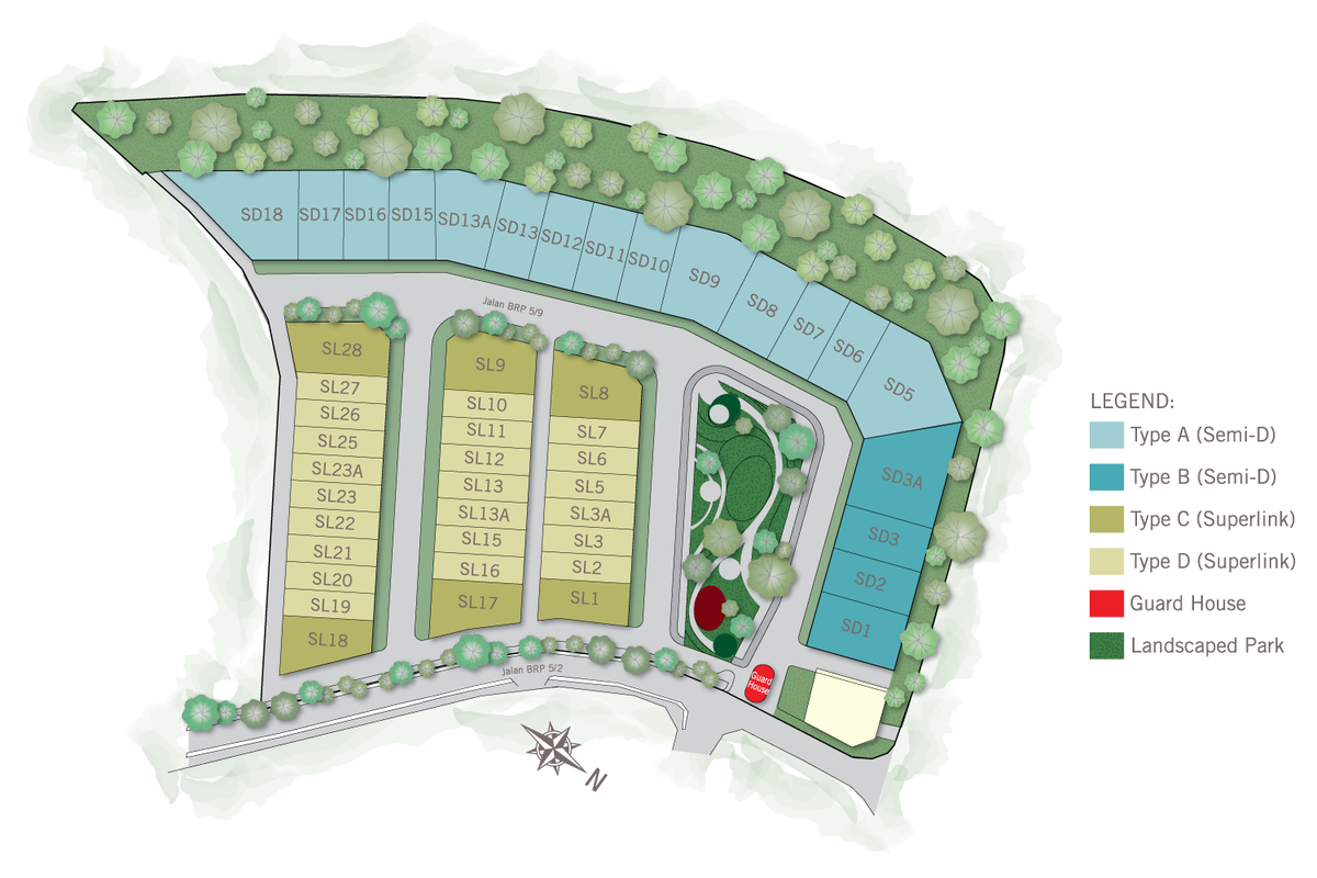 Master Plan of Kalista Park Homes