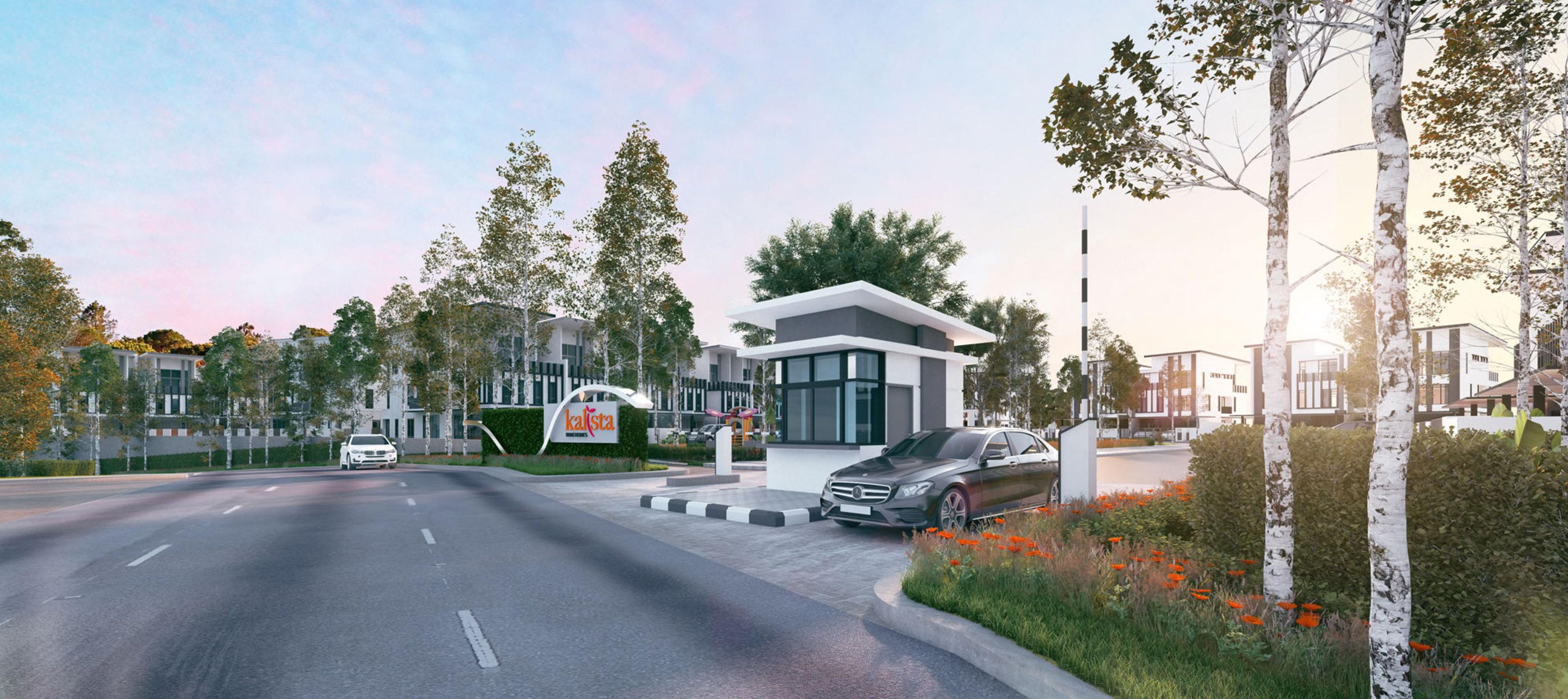 Bukit rahman putera house for sale kalista park homes entrance guardhouse