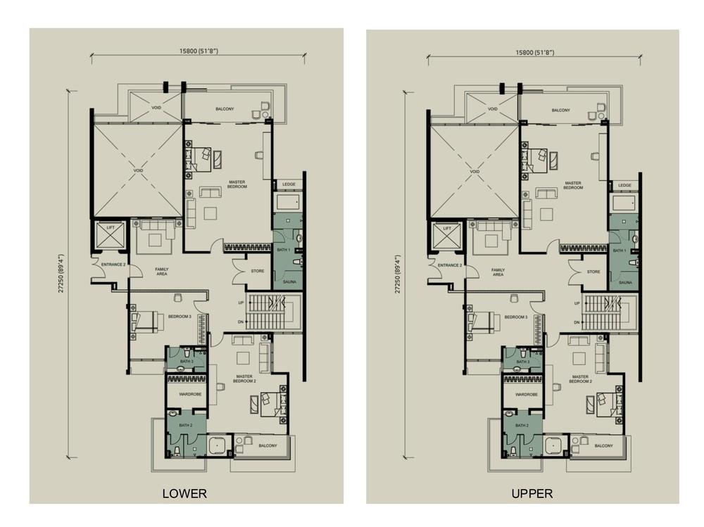 Kenny Hills Residence Morindar Floor Plan