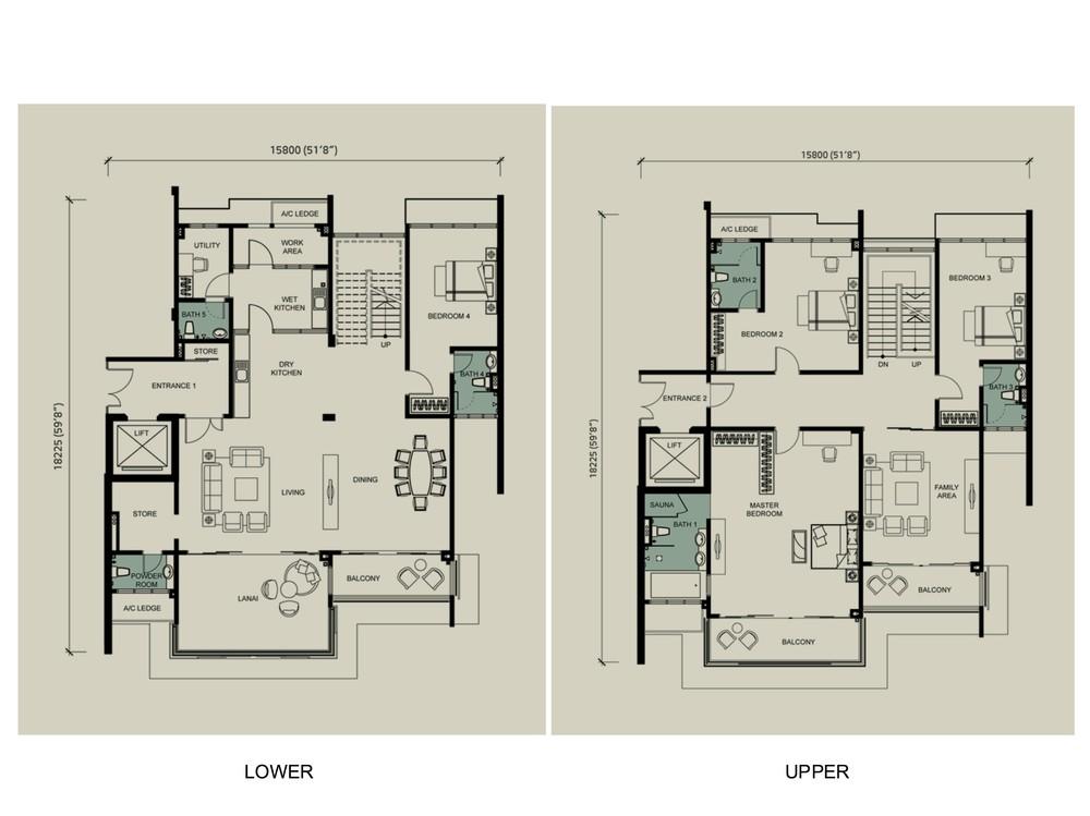 Kenny Hills Residence Albizia Floor Plan