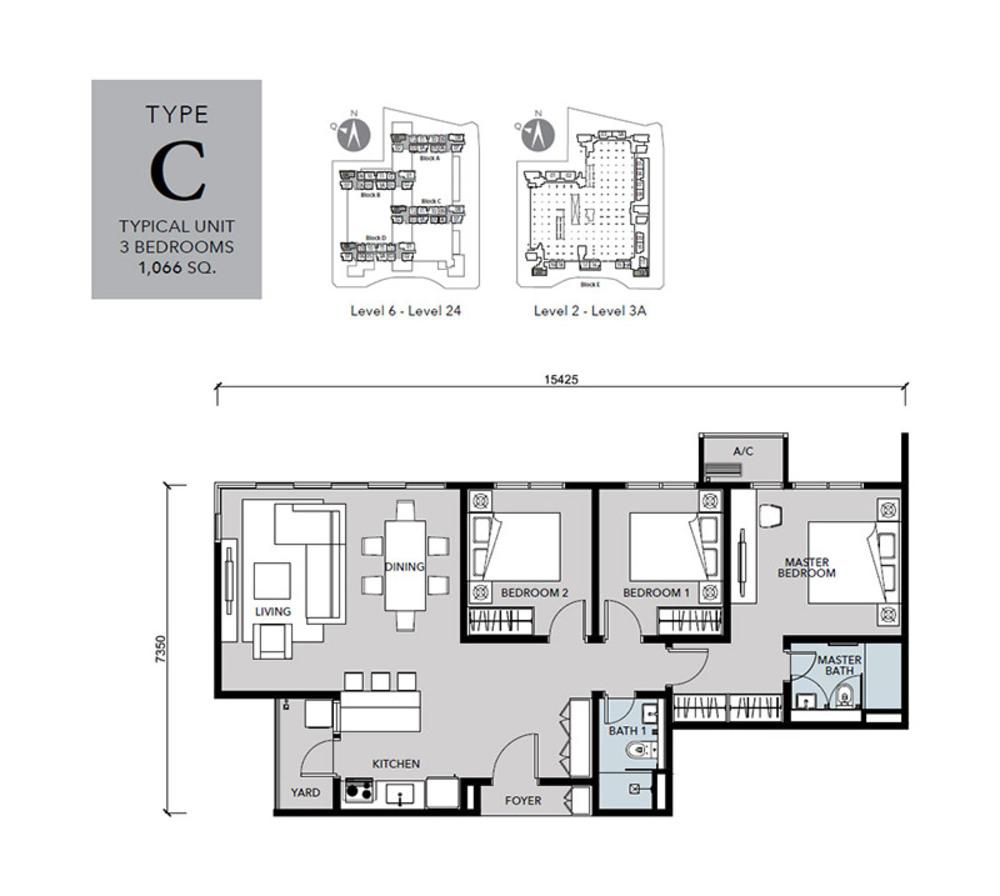 Cantara Residences Type C Floor Plan